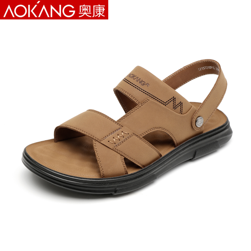 Aoang sandals men's sandals 2021 summer new leisure non-slip dad middle-aged beach men's sandals