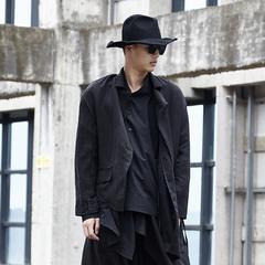 原创设计暗黑山本耀司风格不规则裁剪 西装外套HY01P165
