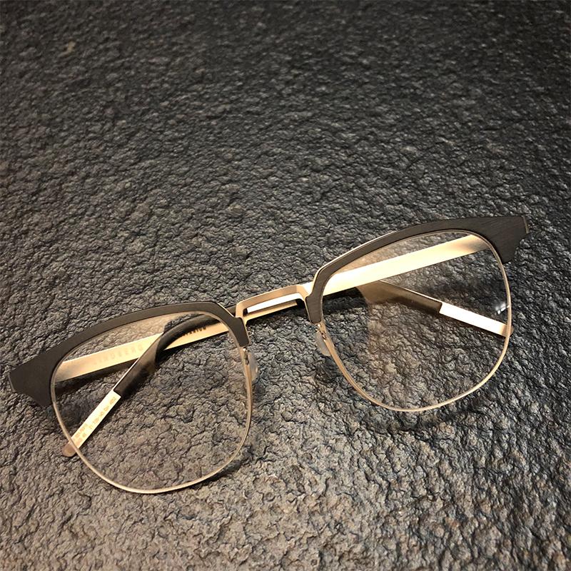 lindberg林德伯格眼镜架丹麦超轻大脸男配近视眼镜框林德博格9843