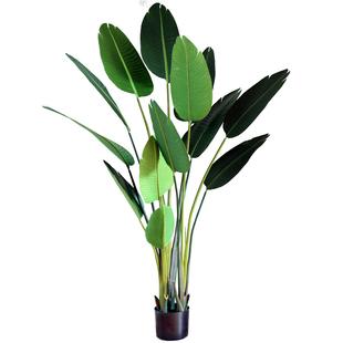 七茉仿真植物裝飾大型北歐假綠植盆栽擺件旅人蕉龜背竹散尾葵落地