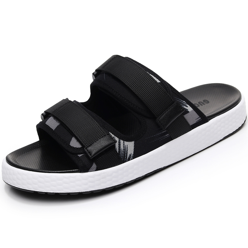 Two-wear slippers men summer 2020 new men's sandals female personality outdoor trend fashion outer wear couple beach shoes