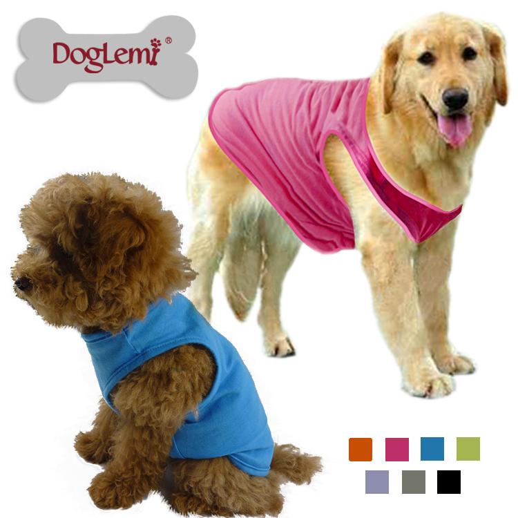 純棉狗背心衣服T恤貴賓泰迪比熊雪納瑞大型犬狗狗 衣服包郵