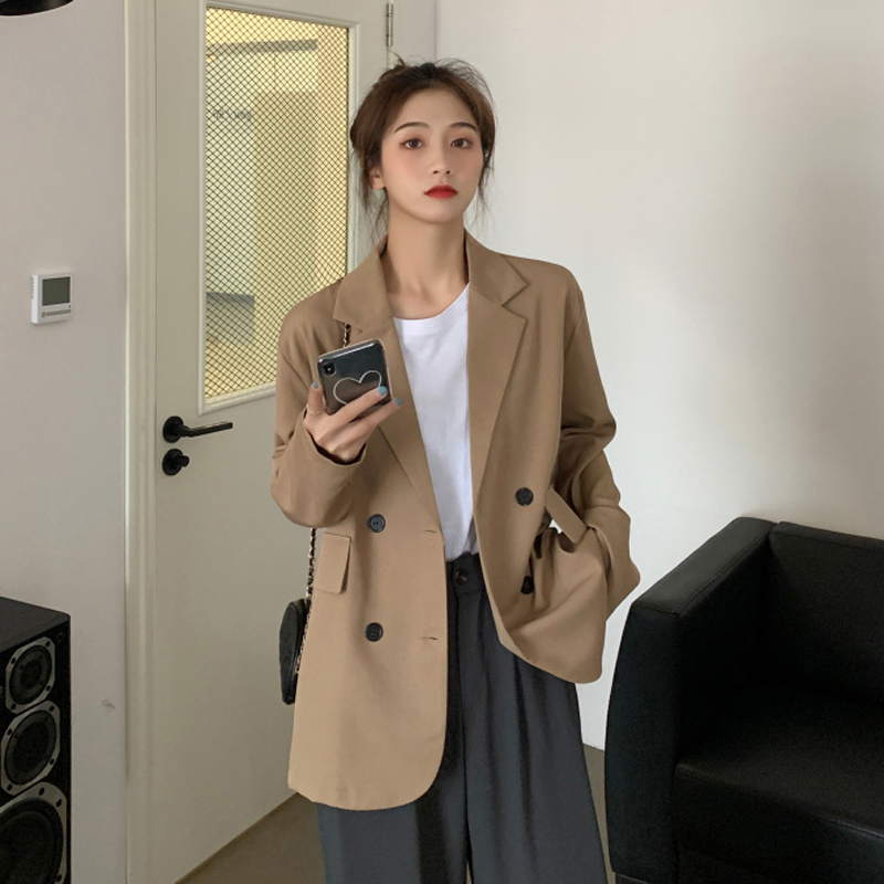 Spring new special price package, thin style, loose drop, medium length khaki, popular long sleeve womens coat and suit