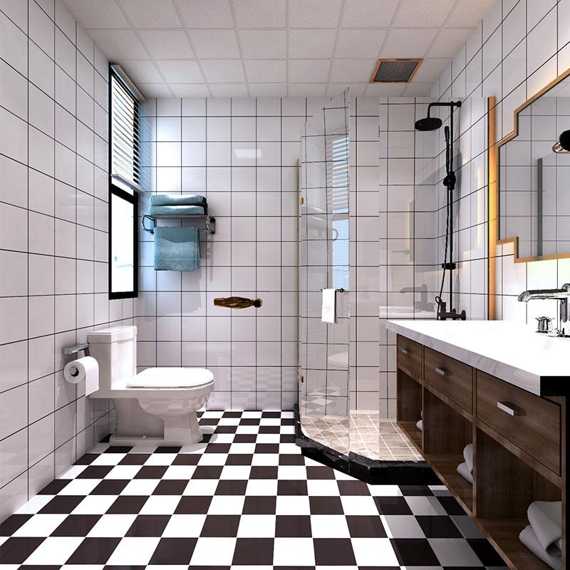 卫生间防水防滑地贴加厚卧室客厅地面耐磨自粘地板贴纸浴室厨房贴