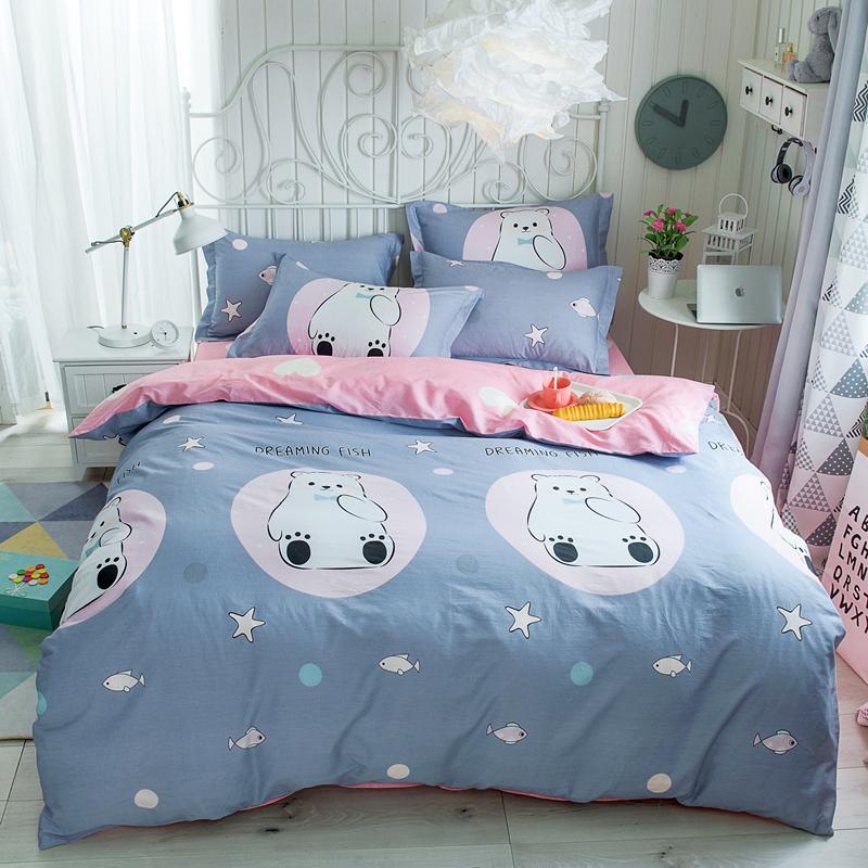 爱诗妮床上用品全棉四件套纯棉床单四件套1.2m1.5/1.8米北欧简约