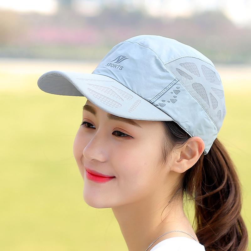 帽子女鸭舌帽时尚潮防晒遮阳帽夏天女士太阳帽速干跑步网眼棒球帽图片