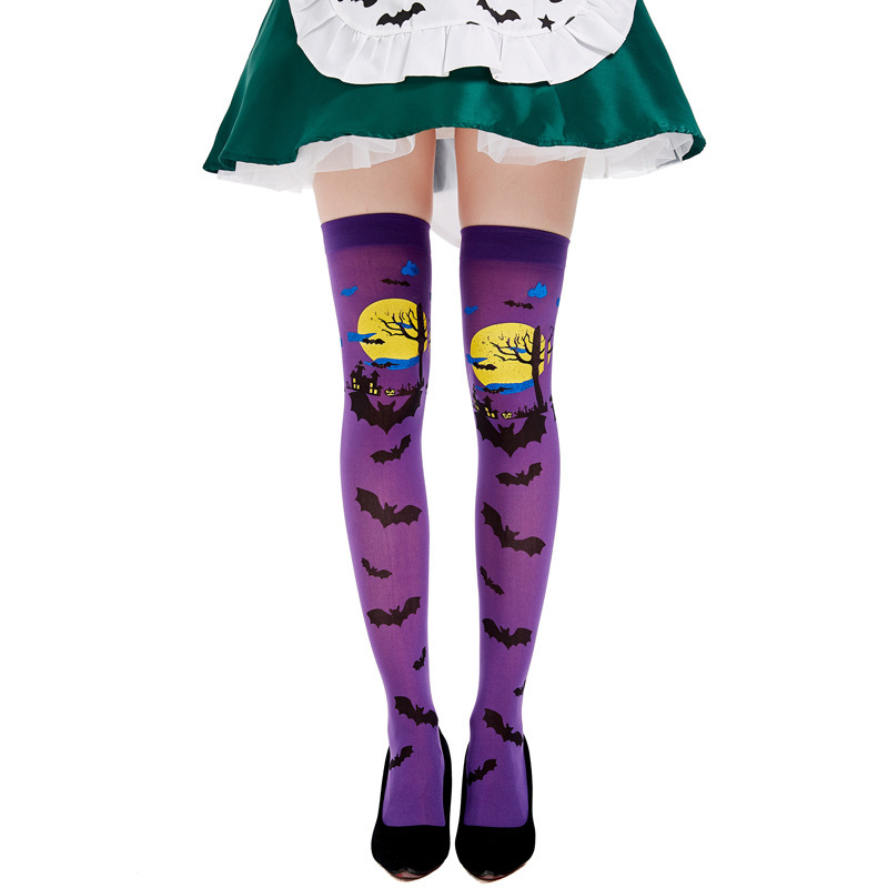 Costume accessories for Halloween Cosplay adult witch vampire bat over knee stockings stockings