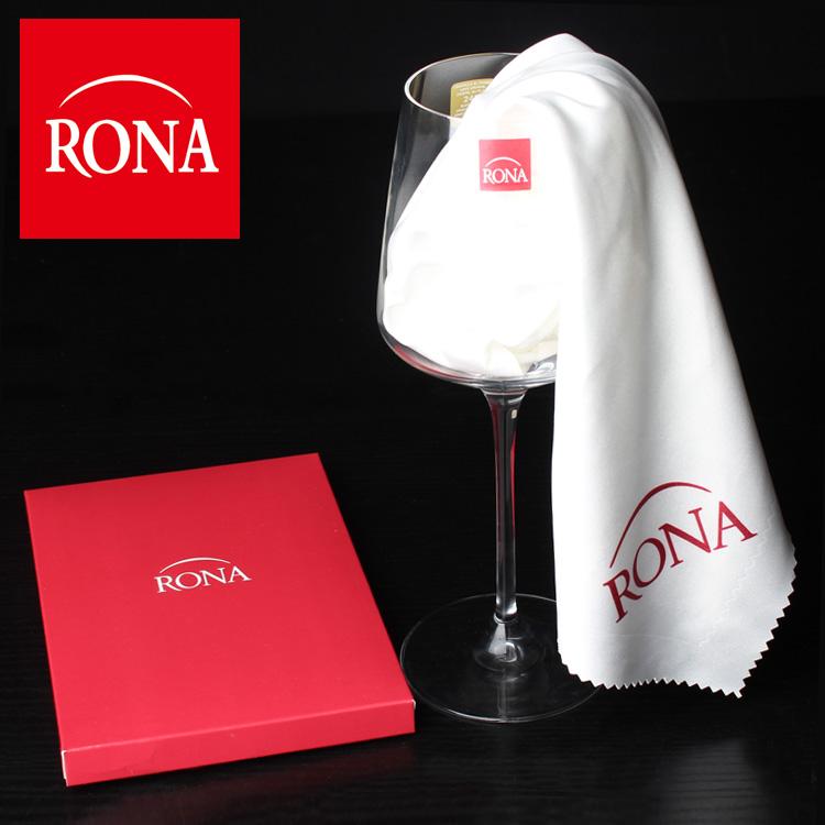 捷克RONA全棉杯布口布純棉不掉毛吸水酒店西餐布紅酒杯擦布廚房布
