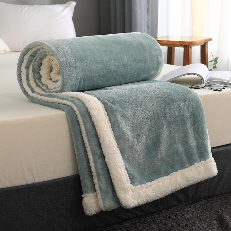 毛毯被子冬天加厚珊瑚绒毯子午睡空调毯沙发盖毯法兰绒小毯子床单 thumbnail