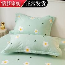 記憶枕套ins毛毛雨乳膠枕套枕頭套單雙人枕用單個比純棉柔軟情侶