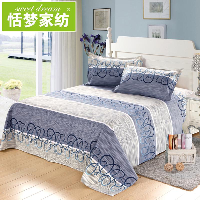 赠送枕套 老粗布床单单件加厚纯棉双人床单三件套 全棉1.8m床被单