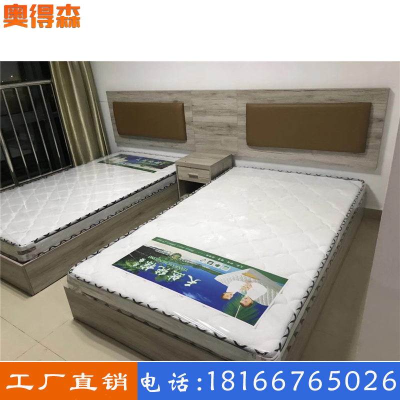Guiyang hotel standard room bed complete set of customization simple modern fast hotel rental room panel furniture customized