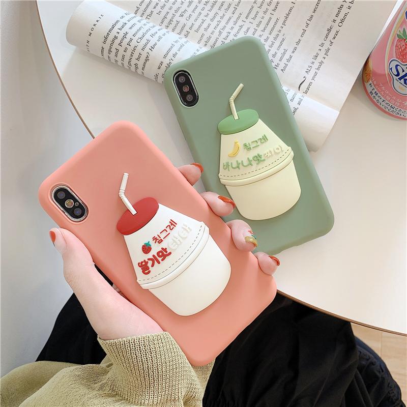 玩胜苹果6splus牛奶饮料xr x手机壳限7000张券