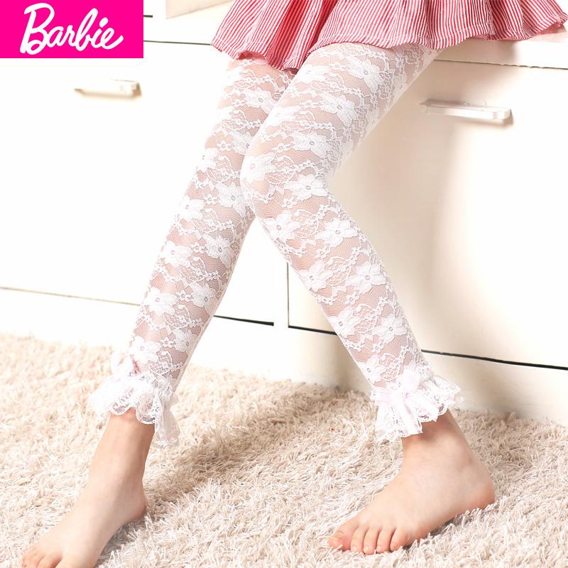 芭比兒童蕾絲寶寶鉛筆褲