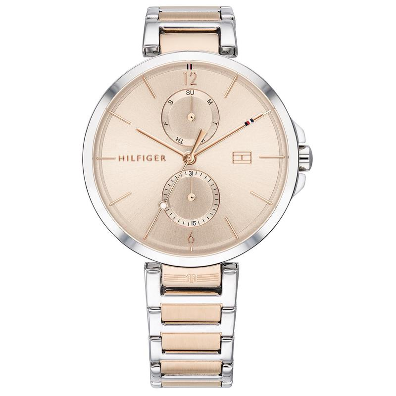 Genuine Tommy Hilfiger womens watch, two-color stainless steel, versatile, simple, overseas purchasing watch 36mm