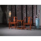 新中式仿明清古典实木餐椅南榆木圈椅主人椅子官帽椅办公椅太师椅