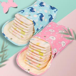 纸尿裤 婴儿尿不湿收纳袋外出便携式 包防水宝宝装 衣服尿片尿布袋子