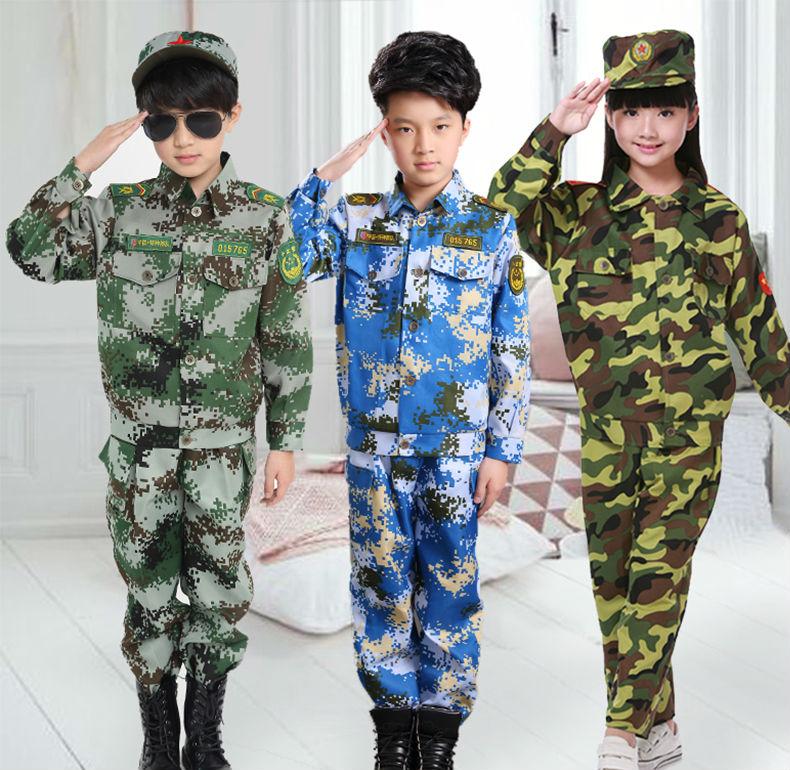 男女幼兒小學生迷彩套裝