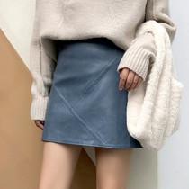 春季PU皮裙大码女装高腰a字裙ins超火短裙子200斤胖MM包臀半身裙