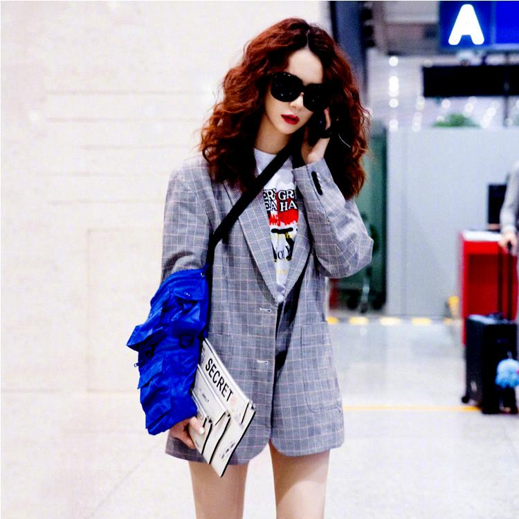Hong Kong Limited 20chic retro Plaid early autumn coat