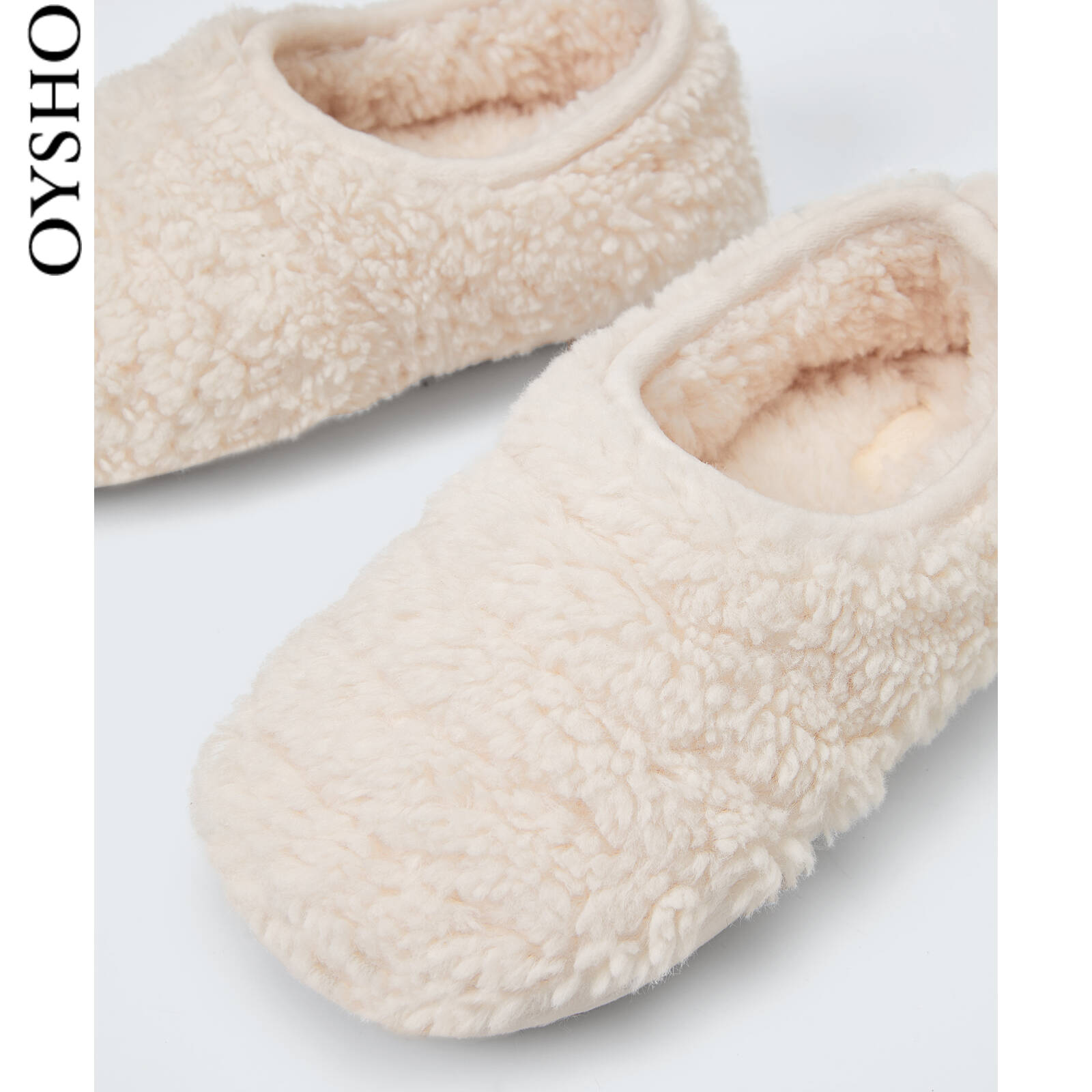 Oysho plush Baotou can wear slippers to keep warm at home all-inclusive slippers female autumn and winter 11009680002