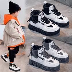男童棉鞋冬季加绒儿童鞋女秋冬款潮流洋气女童鞋子2020新款韩版潮