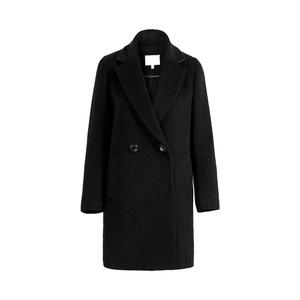 中长款韩版黑色呢子学生大衣女