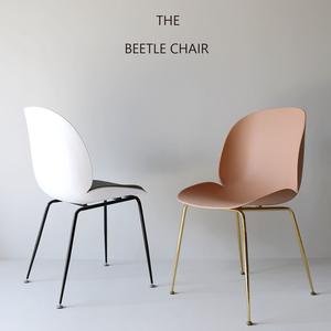 北欧甲壳虫椅家用靠背网红餐椅铁艺塑料ins风设计师椅休闲电脑椅