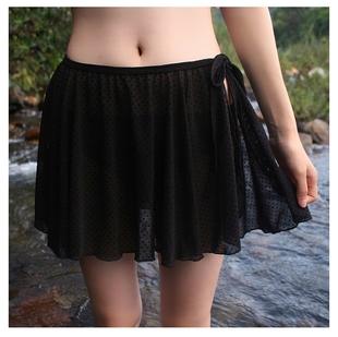 ins风新款超仙女性感显瘦网纱比基尼外搭半身裙 舞蹈沙滩系带纱裙