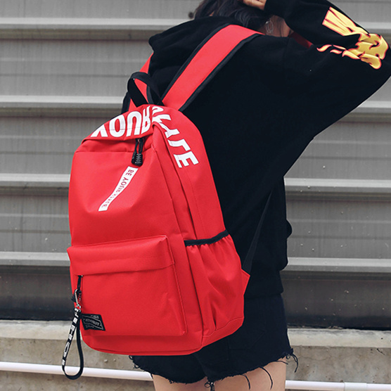 High school schoolbag female large capacity Oxford cloth backpack make your style English letter tide backpack Korean version