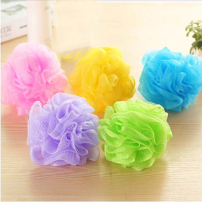 Yuanyuan home [5 Pack] nylon bath ball bath shower shower color bath flower only palm size