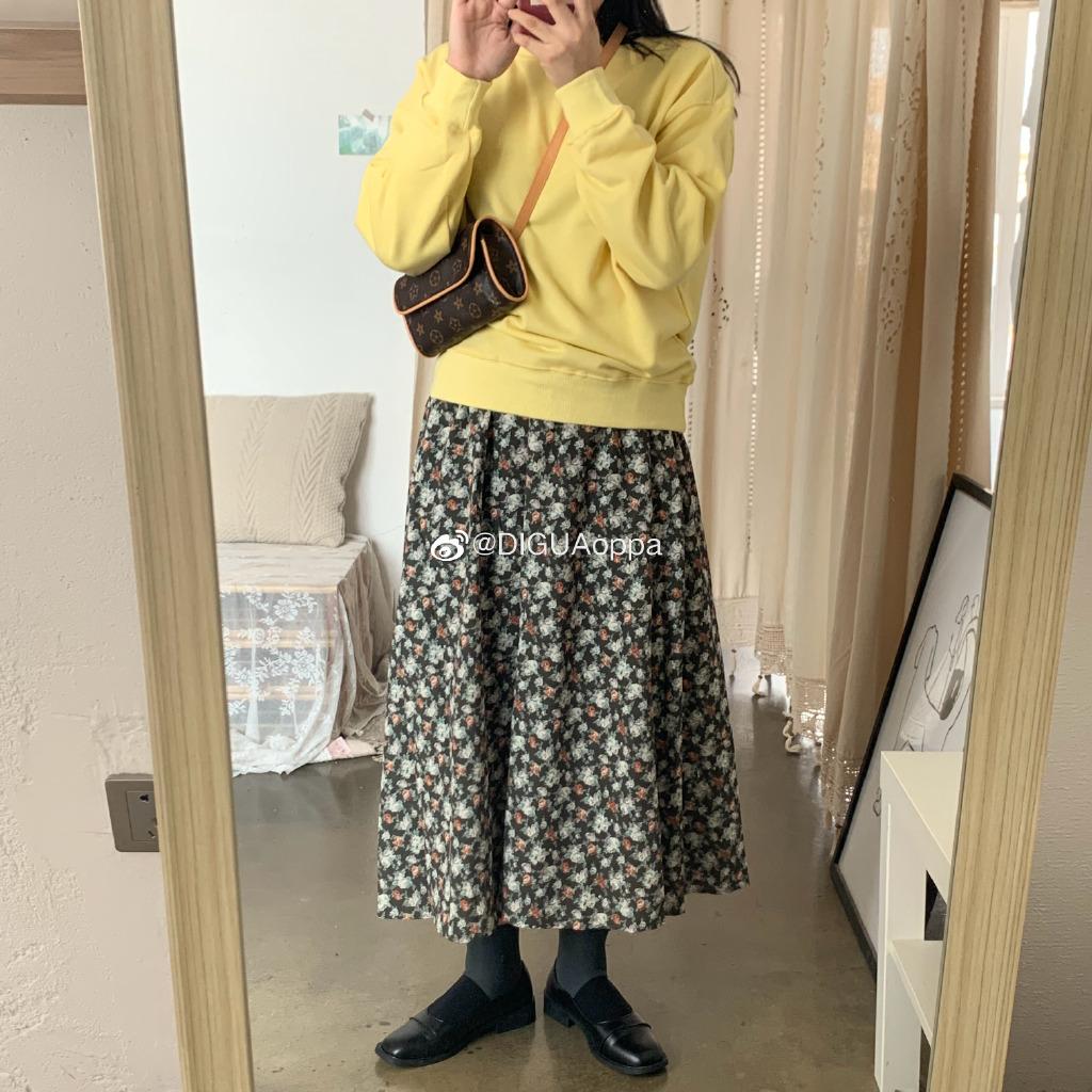 19新款秋冬韩版长裙复古小众半身裙59.99元包邮