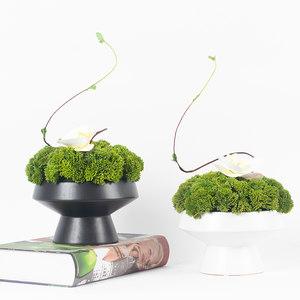 新中式仿真花艺植物桌面摆件盆栽室内餐桌酒店摆设假花绿植装饰品