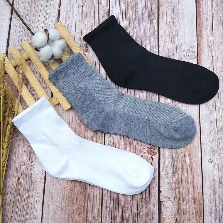 网红袜子男中筒夏季网眼袜透气防臭成人学生运动男袜一次性厂家批