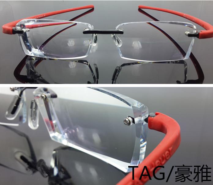 超轻无框近视眼镜时尚搭配眼镜框流行新款切边无框眼镜5042/3741