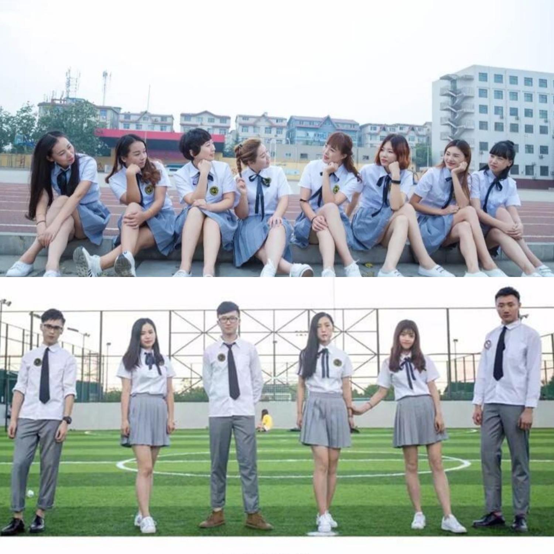 夏季学院风班服套装高中学生校服衬衫韩国男女学生大合唱表演服装