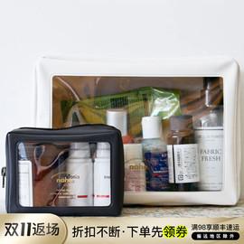 日本HIGHTIDE nahe黑色拉链款SS号S号L号数码化妆盥洗便携包中包图片