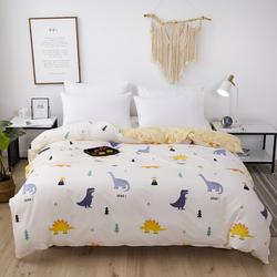 佳丽斯家纺全棉被套床单件被罩纯斜纹双人件150x200儿童学生1.8米