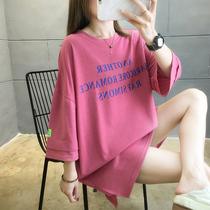 2020年新款夏装韩版大码胖mm短袖t恤女上衣服宽松半袖中长款桖ins