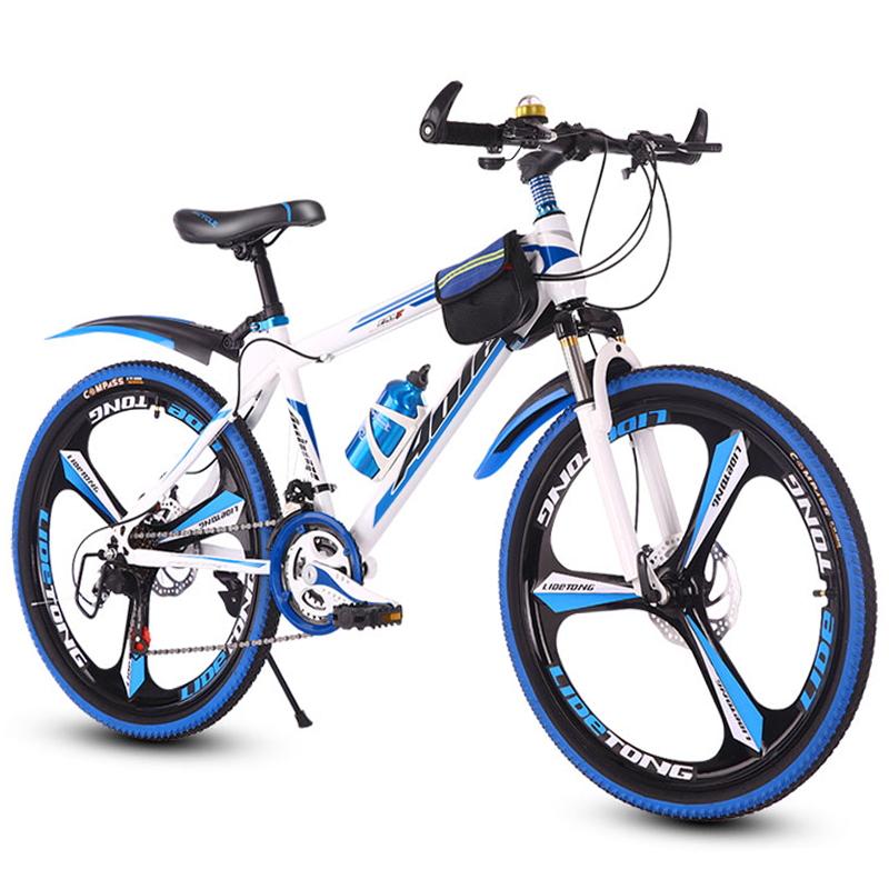 成人高中小学生山地车自行车变速脚踏赛车单车男女孩子一体轮减震