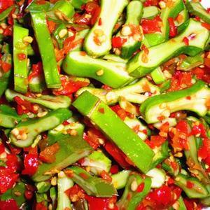 湖南特产剁辣椒农家现做酸辣脆刀豆