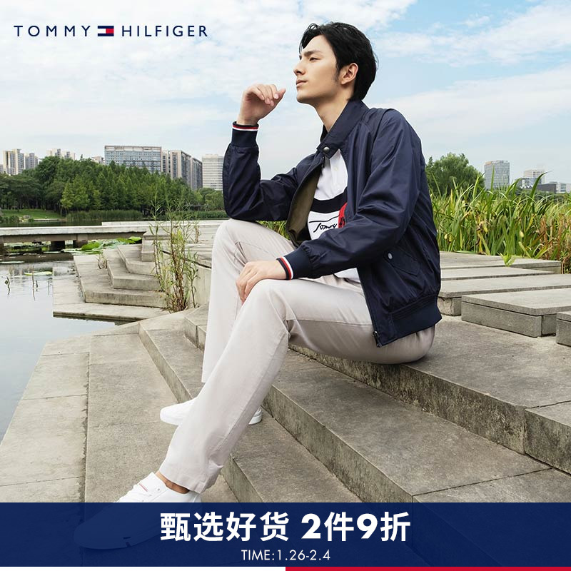 TOMMY HILFIGER men's fall/winter double-sided single jacket MW0MW10500
