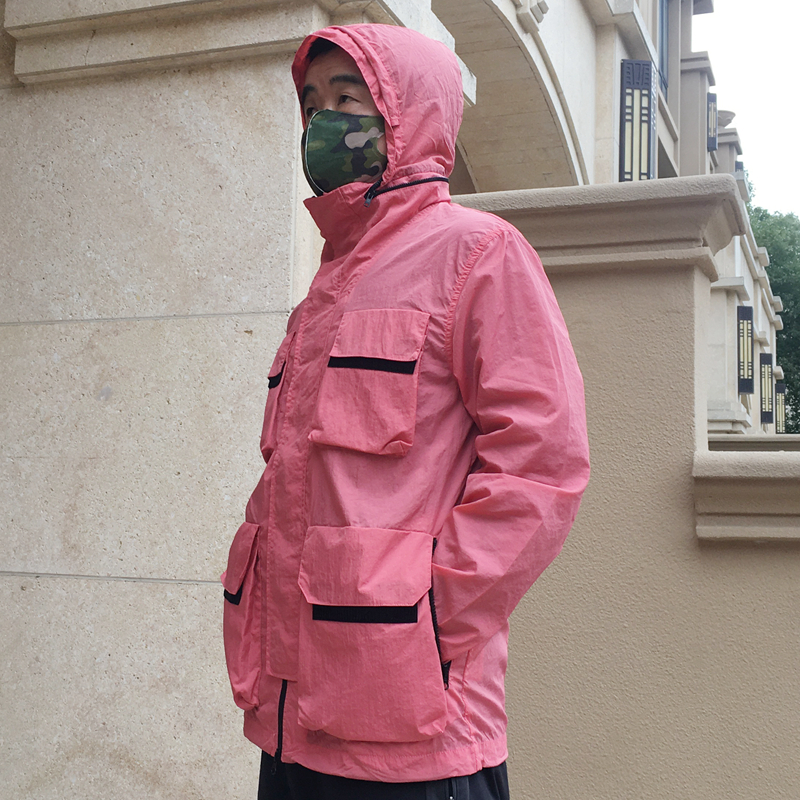 Outerwear spring 2020 mens fashion weeplay new metal nylon casual jacket windproof hooded top