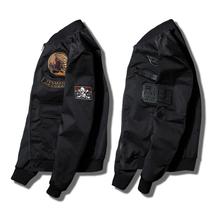 欧美飞行员夹克男韩版 潮流青年修身 刺绣棒球服 春秋工装 外套男短款
