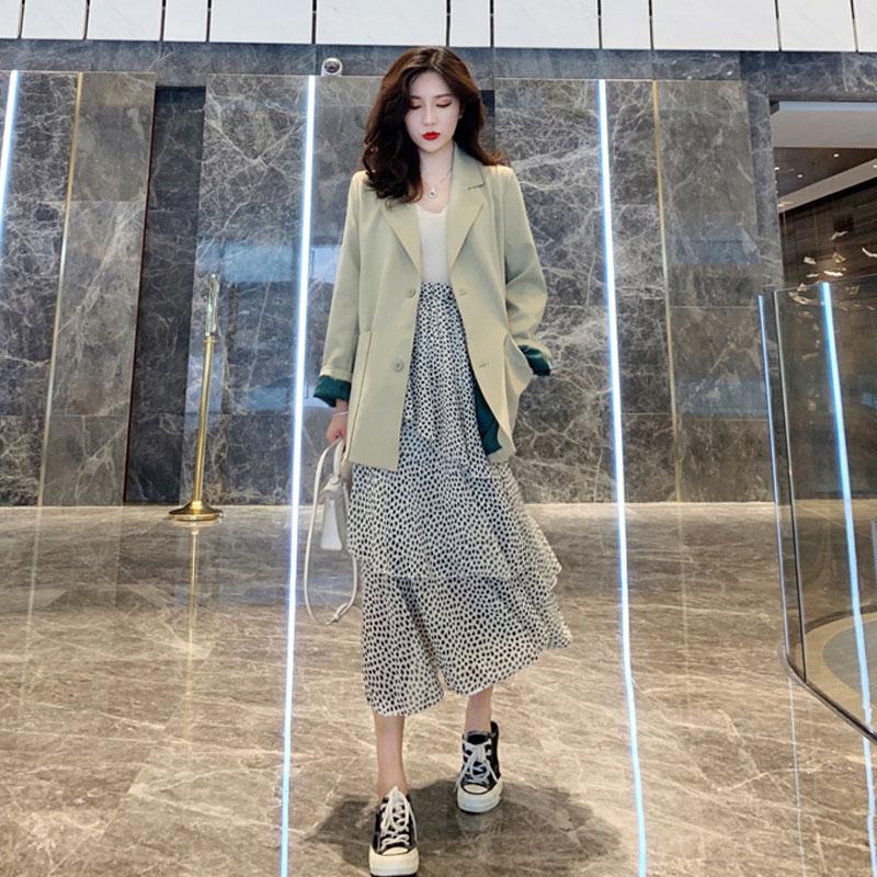 不包邮初秋气质小香风西装套装女裙子时尚韩版很仙的两件套洋气网红显瘦
