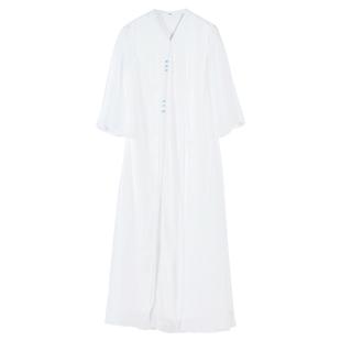 中國風改良版漢服唐裝連衣裙2020夏新款中式復古女裝禪意茶服仙氣