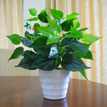 仿真绿植物假绿萝室内外装饰塑料盆栽田园小盆景仿真花草植物摆件