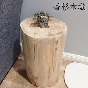 实木木墩树桩圆凳木桩根雕凳子创意换鞋凳北欧客厅凳简约木凳茶几