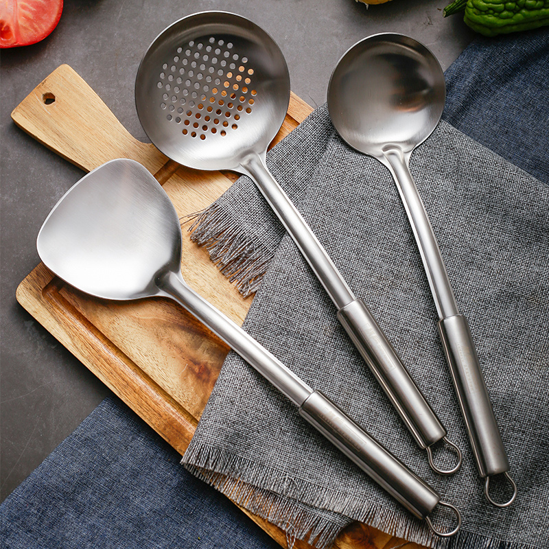 不锈钢汤勺漏勺厨具套装厨房炒菜铲家用长柄防烫加厚铲子锅铲套装
