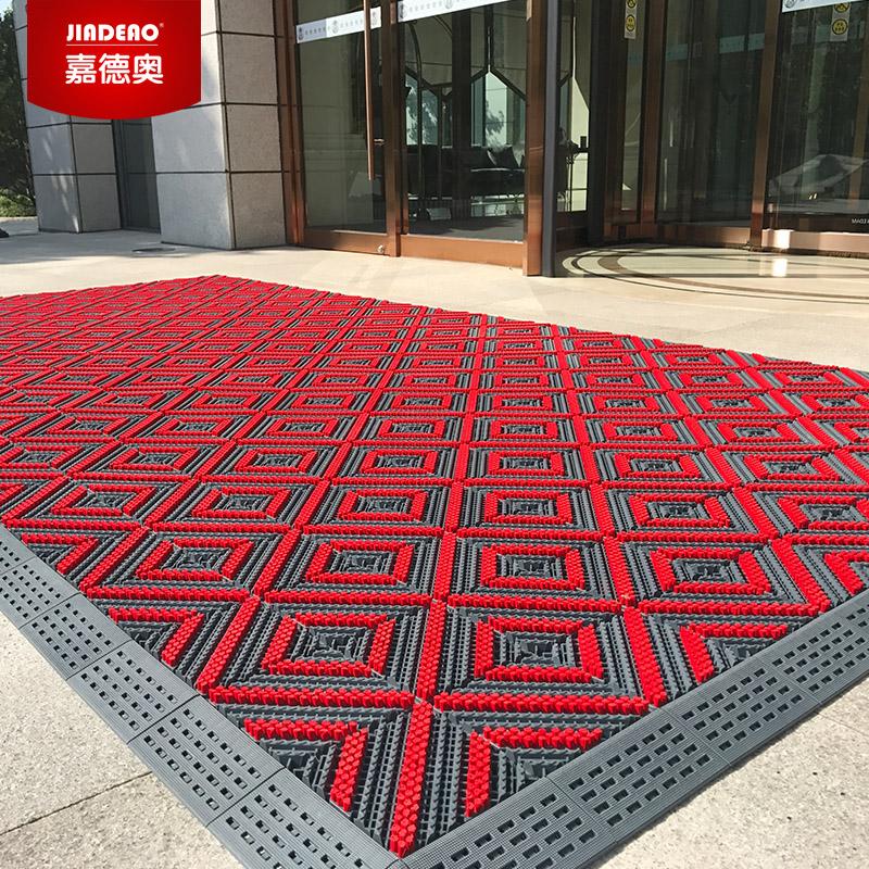 室外拼接防滑脚垫酒店商场公司进门门垫三合一除尘地垫可定制地毯